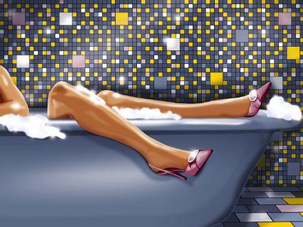 вебкам в ванной