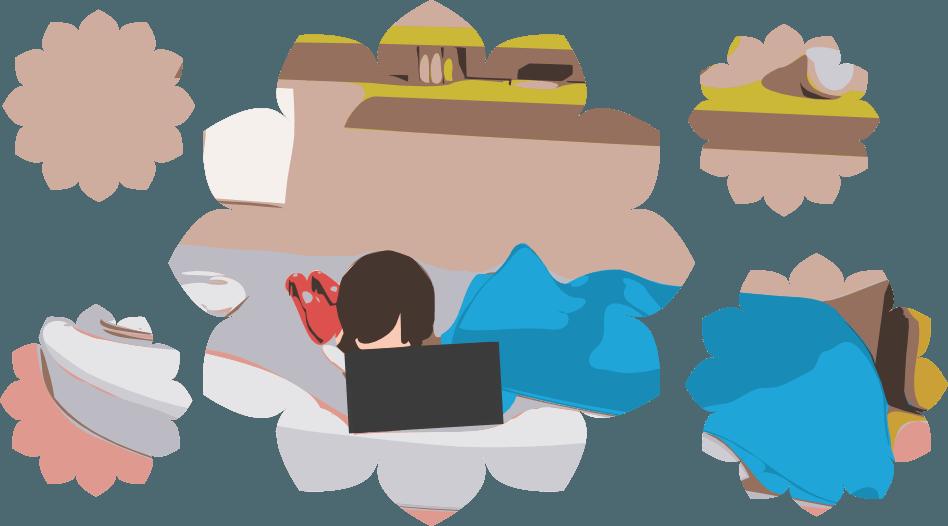 Вебкам модель за работой
