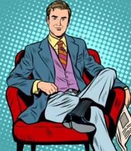 деловой мужчина в кресле