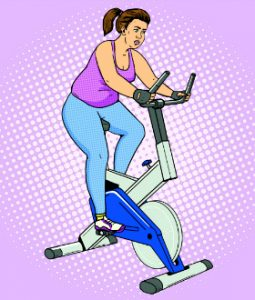 woman-on-exercise-bike