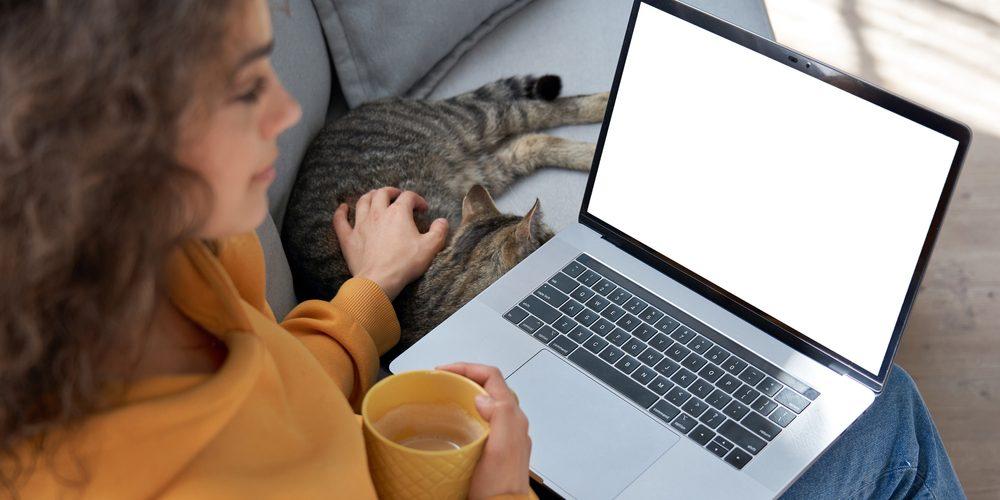 девушка изучает информацию по обучению веб моделей