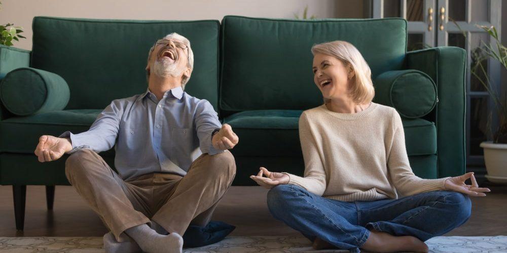 пенсионеры и йога